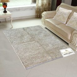 Handloom Rugs Carpets For Living Room Solid Colors Shining Beige Reversible -3 X 5 Feet by Avioni