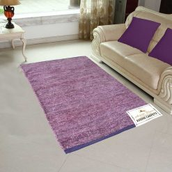 Handloom Rugs Carpets For Living Room Solid Colors Purple – Avioni