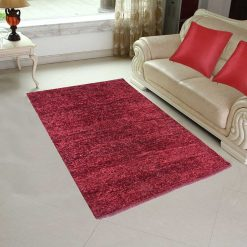Handloom Rugs Carpets For Living Room Solid Colors Mahroon