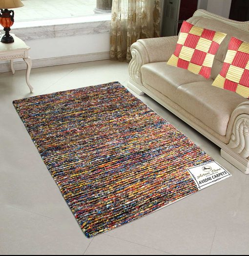 Avioni Handloom Rugs Handweaved Multicolor Premium Carpet for Living Room Best Price-3 Feet X 5 Feet …