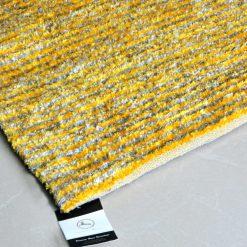 Avioni Handloom Rugs Carpets For Living Room Yellow And Gray Stripes -3 Feet X 5 Feet