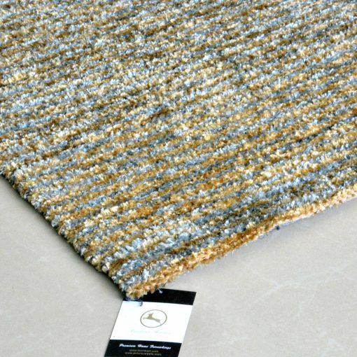 Avioni Handloom Rugs Carpets For Living Room Yellow And White Stripes -3 Feet X 5 Feet