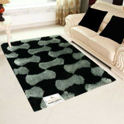 Beautiful Shaggy Rugs – Modern Carpet – Black and White Geometric Design – Avioni  – Factory Prices
