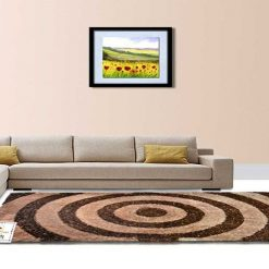 Shaggy Rugs from Avioni – Modern Rug For Living Room – Coffee and Beige Circles – Contemporary Design – Avioni