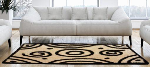 Shaggy Carpet Beige And Coffee Hand Tufted by Avioni -4 feet X 6 feet