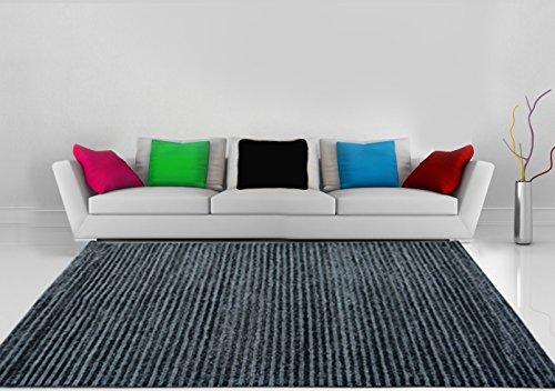 Premium Polyester Carpet in Grey- Black Design -5.5X 3.75 Feet by Avioni