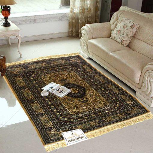 Persian Rugs – Premium Silk  Luxury Living Room Carpet – 4X6 Feet -Avioni