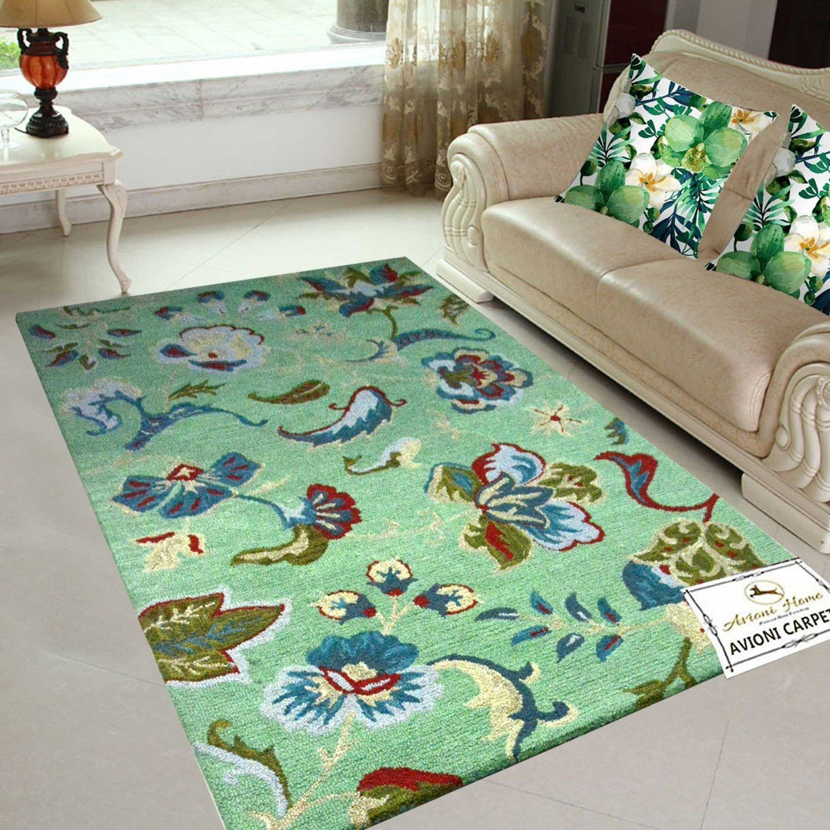 Floral Carpet | Loop Pile Design |  Avioni Carpets