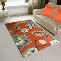Floral Carpet | Wool Contemporary Area Rugs | Avioni