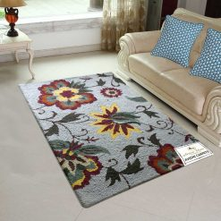 Floral Loop Pile Carpet – Wool Modern Area Rugs –  Himalayan Collection – 3 x 5 Feet – Avioni – Best Deal