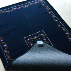 Blue Carpet | Woolen Mat | Avioni| Embroidered Rug |