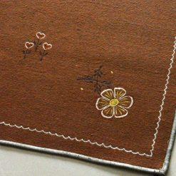 Brown Carpet | Woolen Rug | Embroidered | Avioni