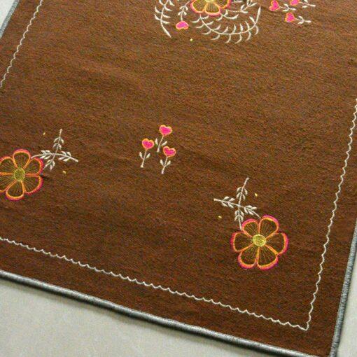 Brown Carpet | Buy Woolen Mat | Embroidered | Avioni