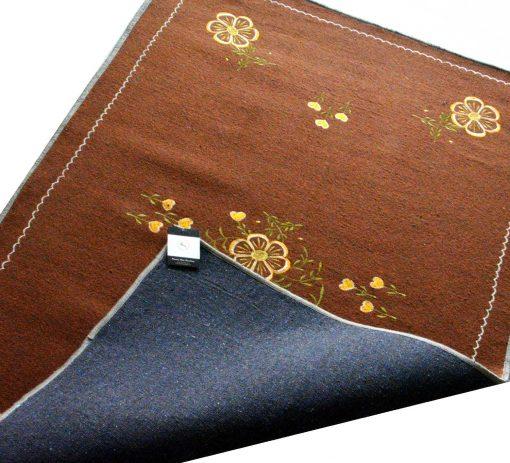 Brown Carpet   Woolen Mat Designs   Embroidered   Avioni