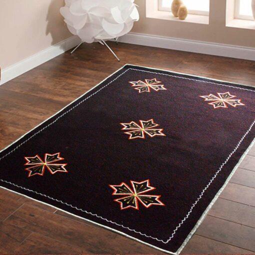 Dark Brown Carpet | Wool Rug | Embroidered | Avioni