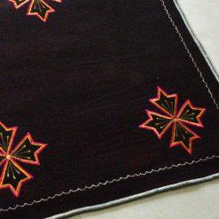 Dark Brown Carpet | Woolen Rug | Embroidered | Avioni