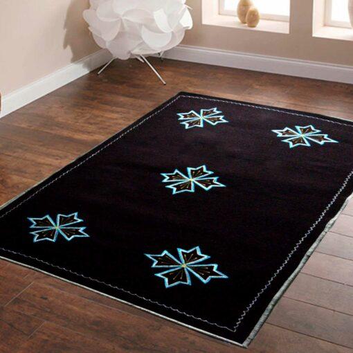 Dark Brown Carpet | Buy Woolen Mat | Embroidered | Avioni