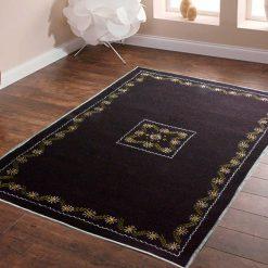 Dark Brown Carpet | Woolen Mats | Embroidered | Avioni