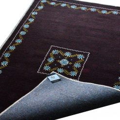 Dark Brown Carpet | Wool Area Rugs | Embroidered | Avioni