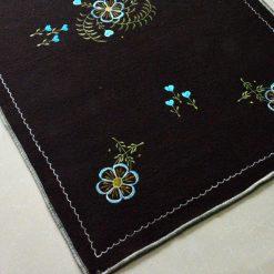 Buy Dark Brown Rug | Woolen Mat | Embroidered | Avioni