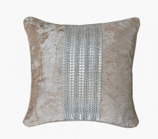 Premium Chenille Cushion Cover in Beige by Avioni