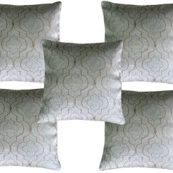 Faux Silk Grey designer cushion covers (Set of 5)