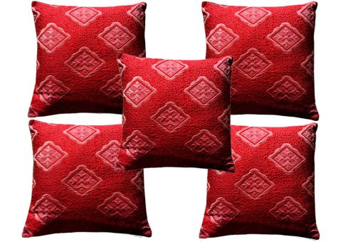 Designer red cushion covers  Heavy Material (Set of 5)