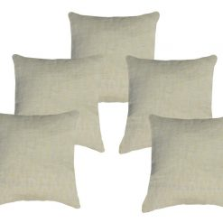 Buy Cushion Covers In Premium Cotton Cream Color (16X16) (Set of 5 )