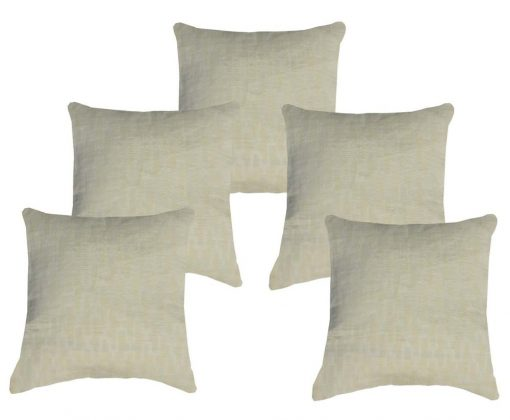 Buy Cushion Covers In Premium Cotton Cream Color (16X16) (Set of 5 )