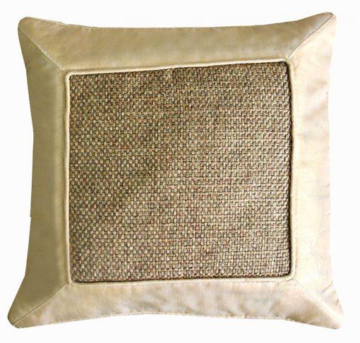Cushion Covers in Jute Cream 16 X 16 Inch (set of 5) by Avioni