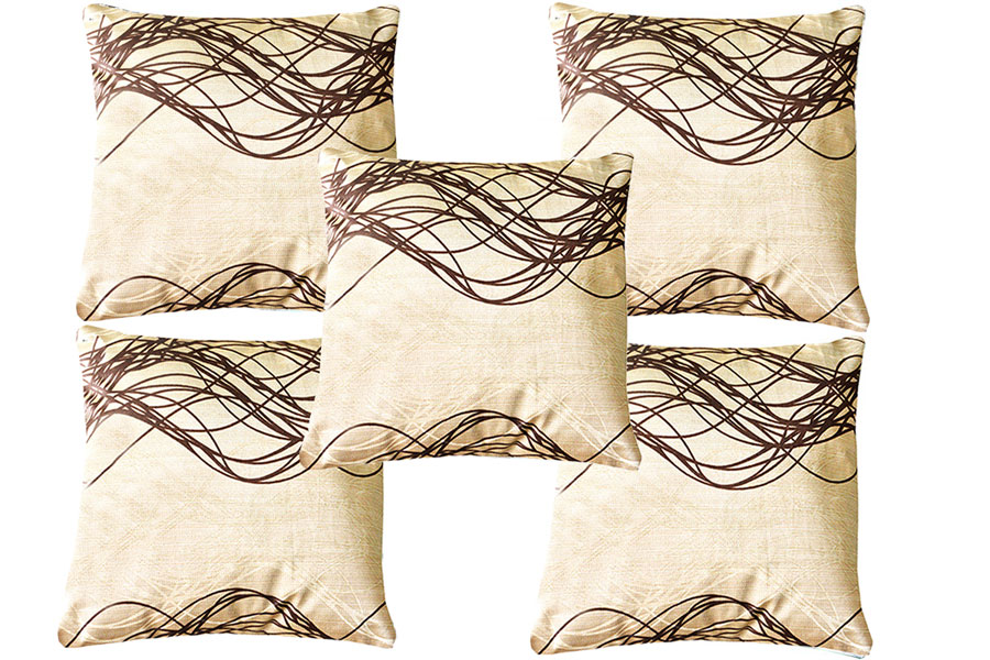 Cushion Covers in Coffee 16 X 16 Inch (set of 5) by Avioni