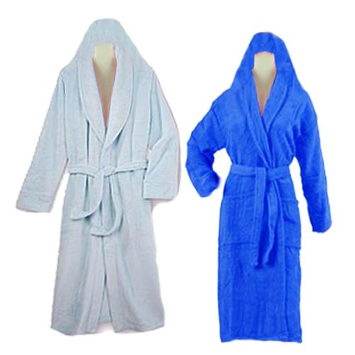 Bathrobes with Hood Set of 2 multicolor by Avioni
