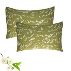 Pillow Cases – Green (Mehandi) Color -100% Cotton – Set of 2 – Avioni