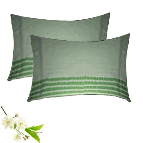 Pillow Cases  – With Lines – 100% Cotton –  Set of 2 -17X27 Inches – Avioni