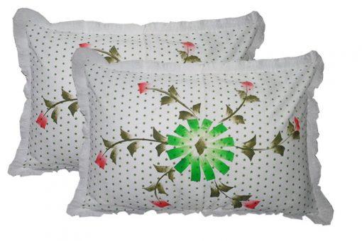 Pillow Cases - Beautiful Pillow Cover 100% Cotton - Set of 2 - 67 X 45 Cms - Avioni