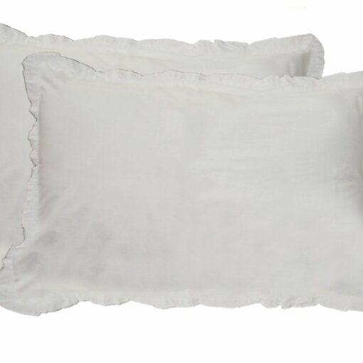 Pillow Cases - 100% Cotton - Plain White - Set of 2 - Avioni