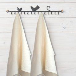 Kitchen Towels 100% Cotton (Set Of Six) Beige Color