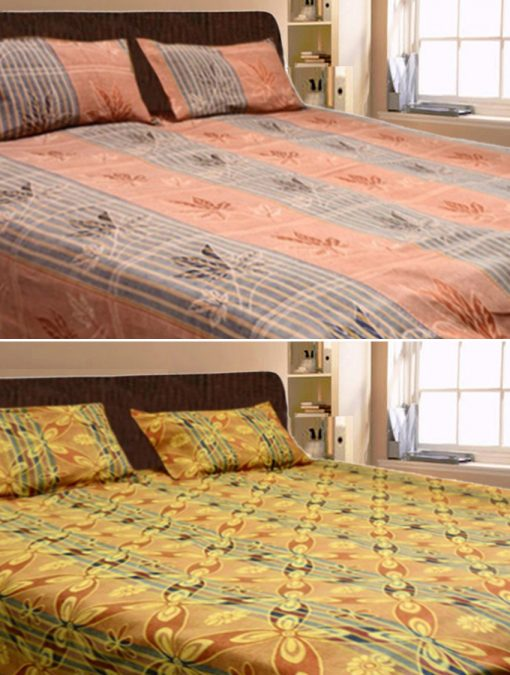 Double Bed Sheets Combo 100% Cotton(set of 2) by Avioni