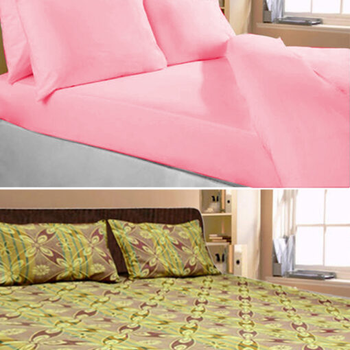 Cotton Double Bed Sheet Plain and Multicolor by Avioni