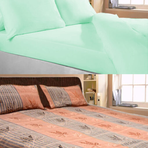Combo of two Double Bedsheets 100% fine Cotton by Avioni