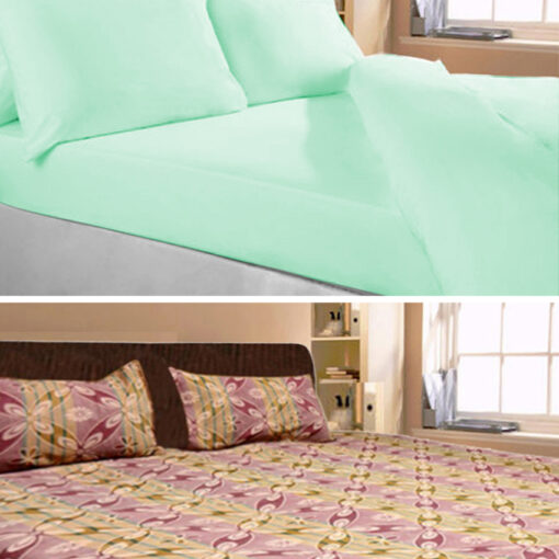 Double Bed Sheet Combo(set of 2) Fine Cotton by Avioni
