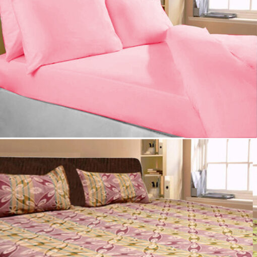 Double Bed Sheet Combo 100 fine Cotton (Set of 2) by Avioni