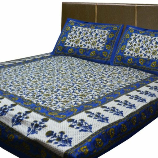 Jaipuri Printed Double Bedsheet 100% Cotton By Avioni