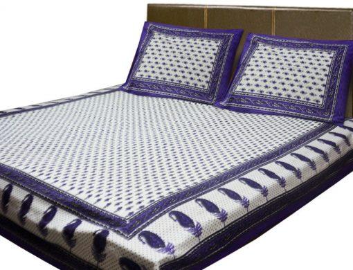 Loomkart Double Bedsheet Jaipuri Printed 100% Cotton By Avioni …