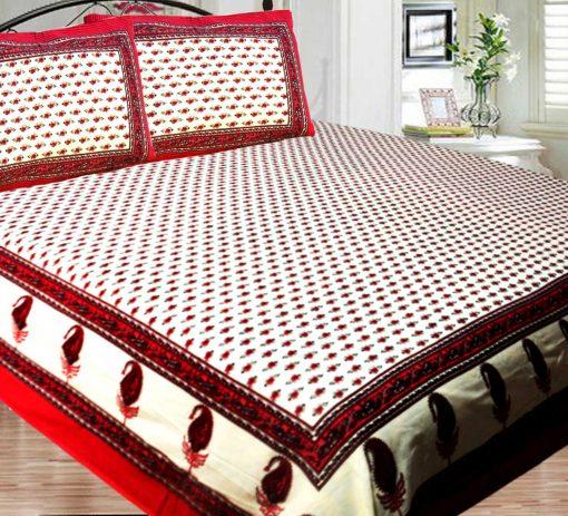 Jaipuri Double Bedsheet in Printed 100% Cotton By Avioni