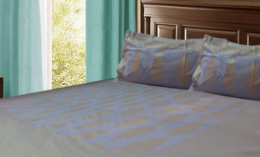 Jaipuri Double Bedsheet in blue Colour by Avioni