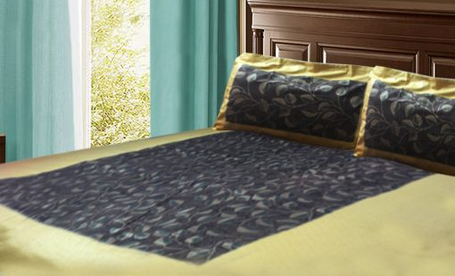 Jaipuri Gold Double Bedsheet ethnic print by Avioni