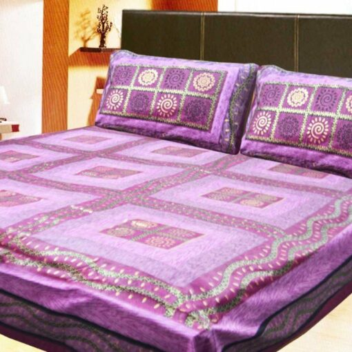 Loomkart Double Jaipuri Gold 100% Cotton Premium Bedsheets