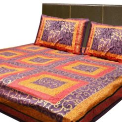 Jaipuri Double Bedsheets Gold 100% Cotton Premium by Avioni