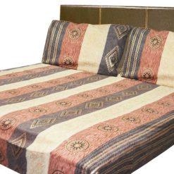 Double Jaipuri Gold 100% Cotton Premium Bedsheets (90 X 108 Inches) by Avioni